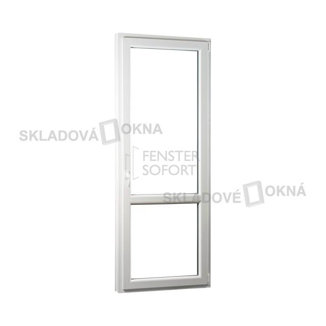 Jednokřídlé plastové balkónové dveře PREMIUM, pravé - SKLADOVÁ-OKNA.cz - 850 x 2330