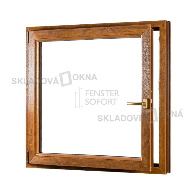 Jednokřídlé plastové okno PREMIUM, otvíravo-sklopné levé - SKLADOVÁ-OKNA.cz - 1100 x 1200