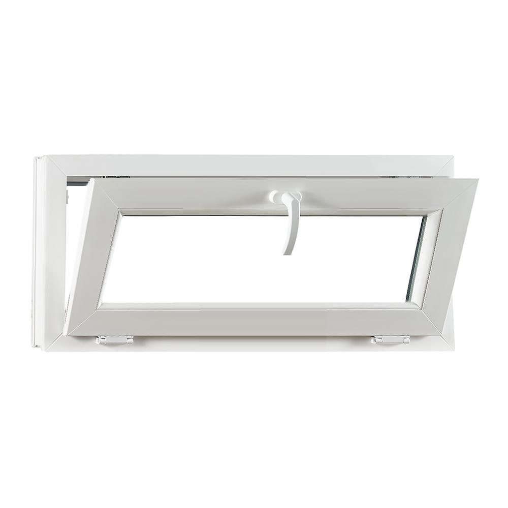 Levně PREMIUM plastové okno 900x420 mm (90x42 cm) bílé sklopné