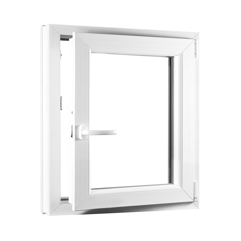 Levně Jednokřídlé plastové okno PREMIUM otvíravo-sklopné pravé 650 x 800 mm barva bílá
