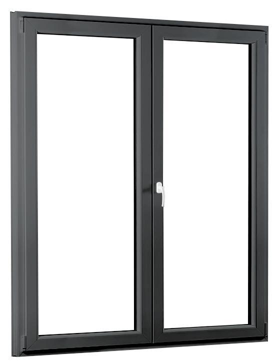 Dvoukřídlé plastové balkónové dveře PREMIUM 1500 × 2080