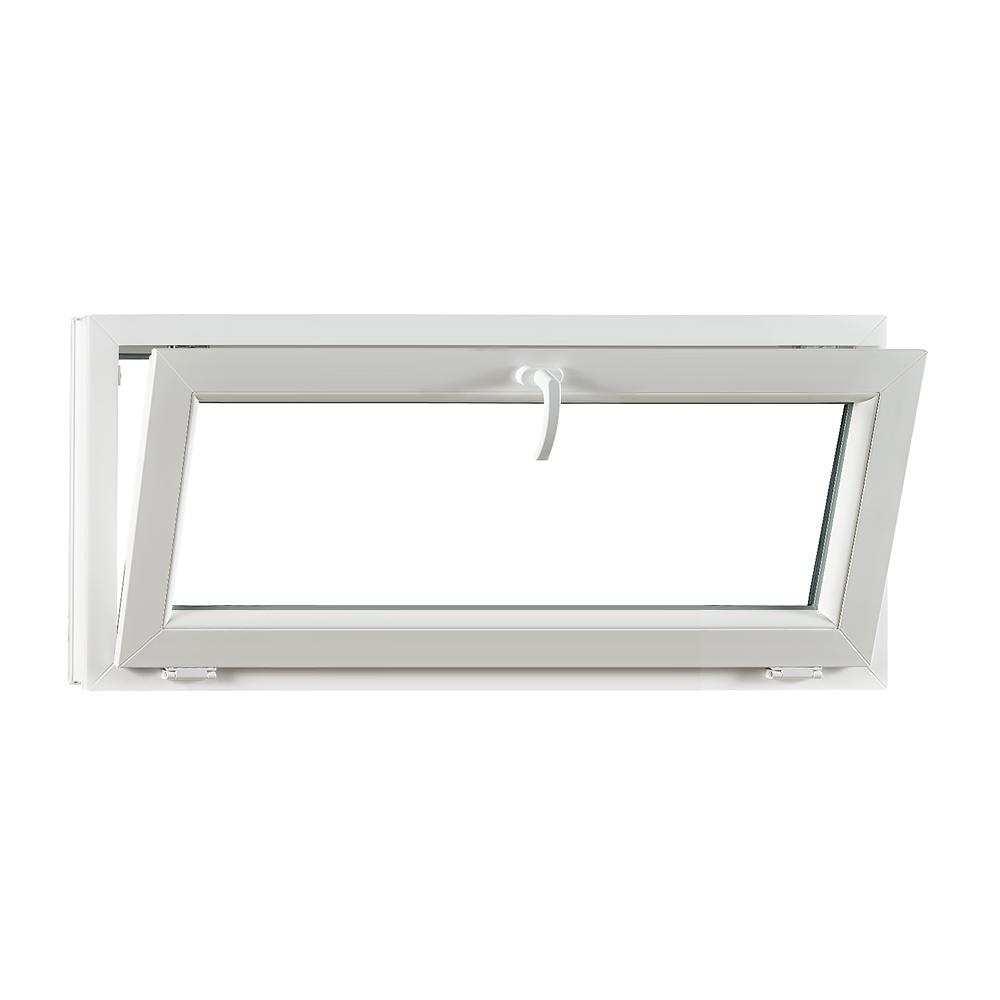 Levně PREMIUM plastové okno 1200x550 mm (120x55 cm) bílé sklopné