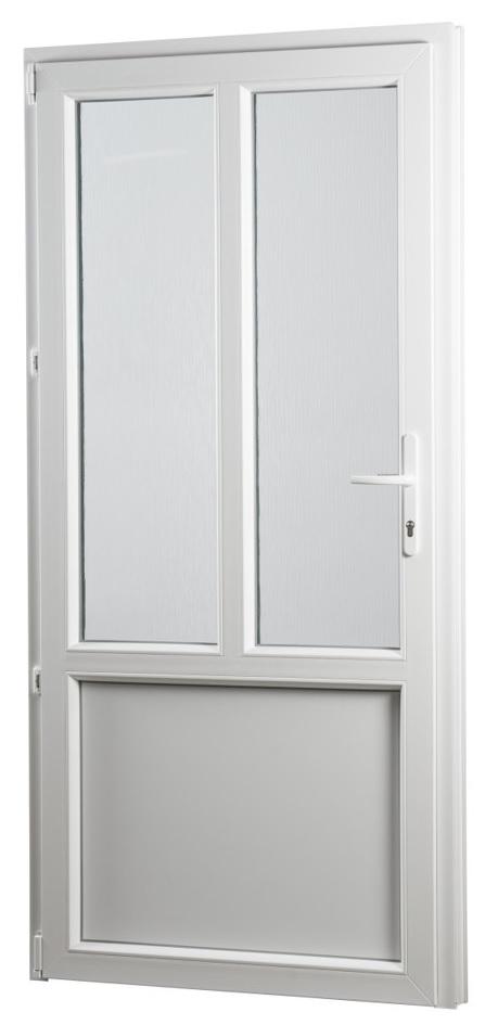 Skladova-okna Vedlejší vchodové dveře PREMIUM 315 levé 980 x 2080 mm bílá sklo ornament kůra