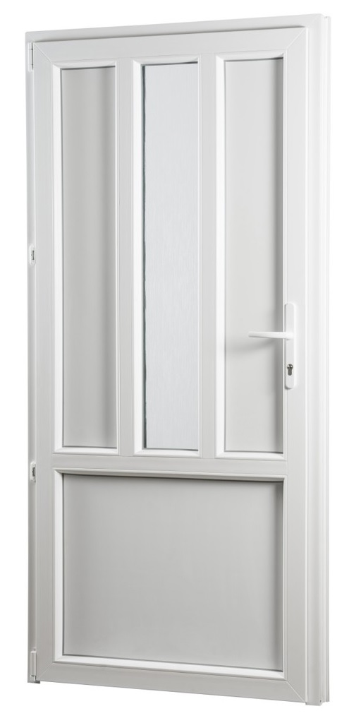 Skladova-okna Vedlejší vchodové dveře PREMIUM 319 levé 880 x 2080 mm bílá