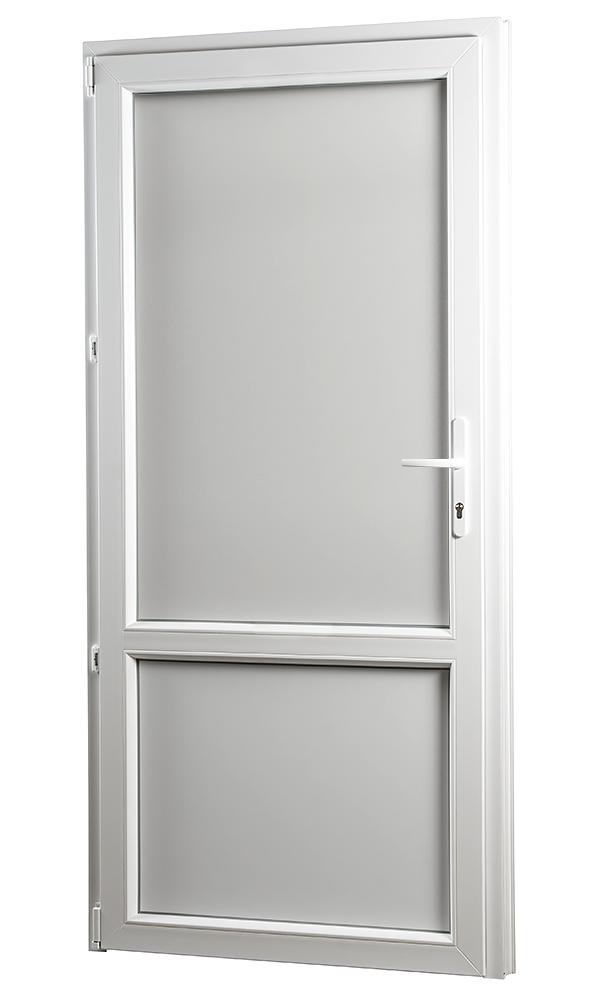 SKLADOVA-OKNA Vedlejší vchodové dveře PREMIUM plné levé 980 x 2080 mm barva bílá Výplň panel PVC bíl