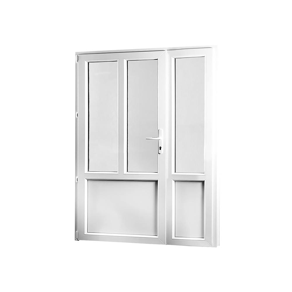 SKLADOVA-OKNA Vedlejší vchodové dveře dvoukřídlé levé PREMIUM 1480 x 2080 mm barva bílá