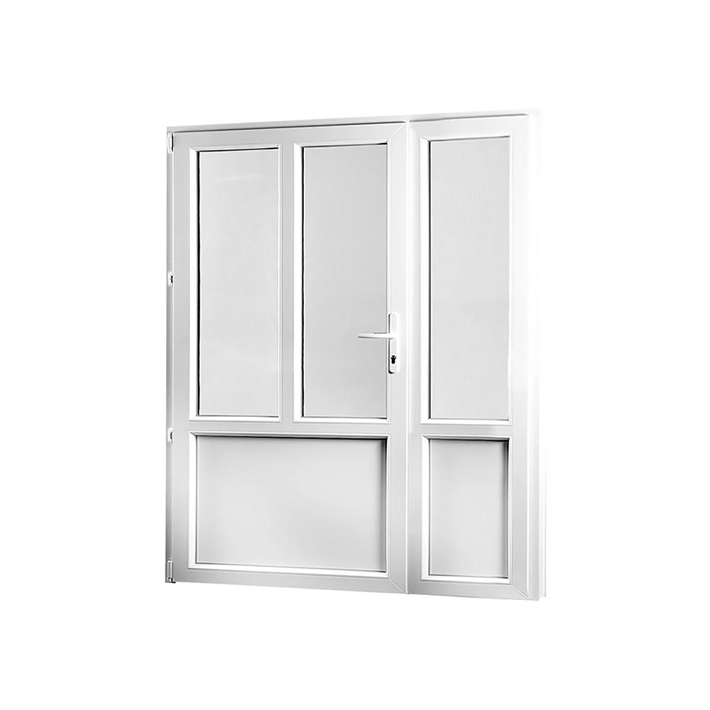 SKLADOVA-OKNA Vedlejší vchodové dveře dvoukřídlé levé PREMIUM 1580 x 2080 mm barva bílá