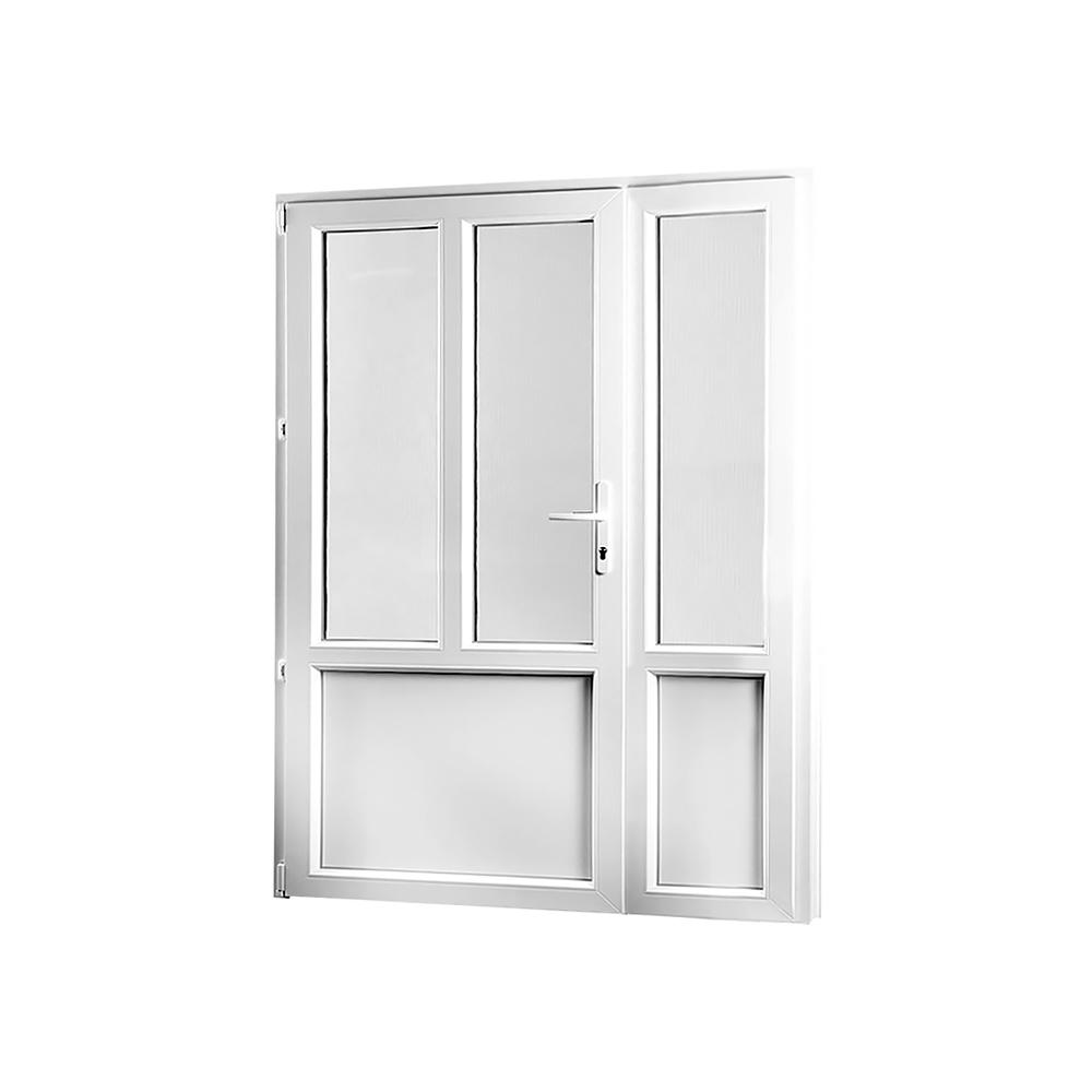SKLADOVA-OKNA Vedlejší vchodové dveře dvoukřídlé levé PREMIUM 1380 x 2080 mm barva bílá