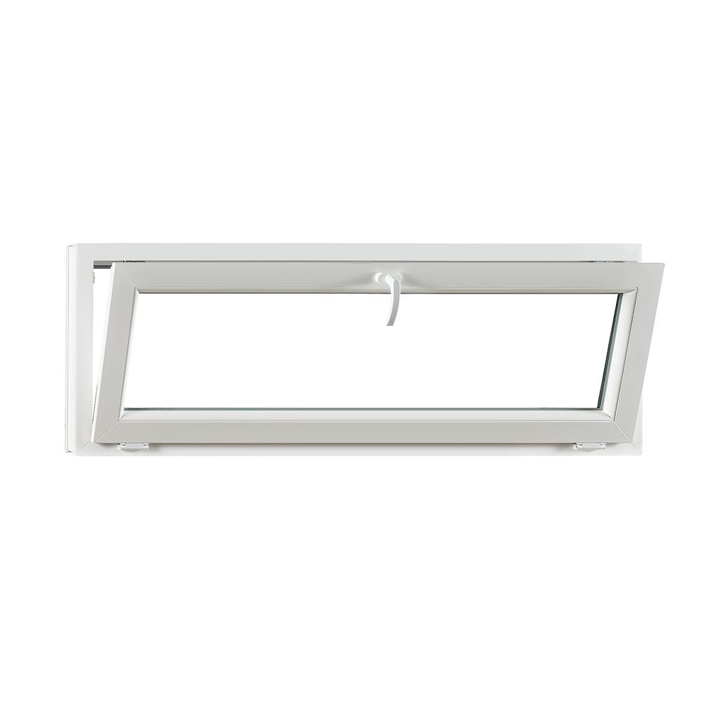 Levně Sklopné plastové okno PREMIUM 1500 x 550 mm barva bílá