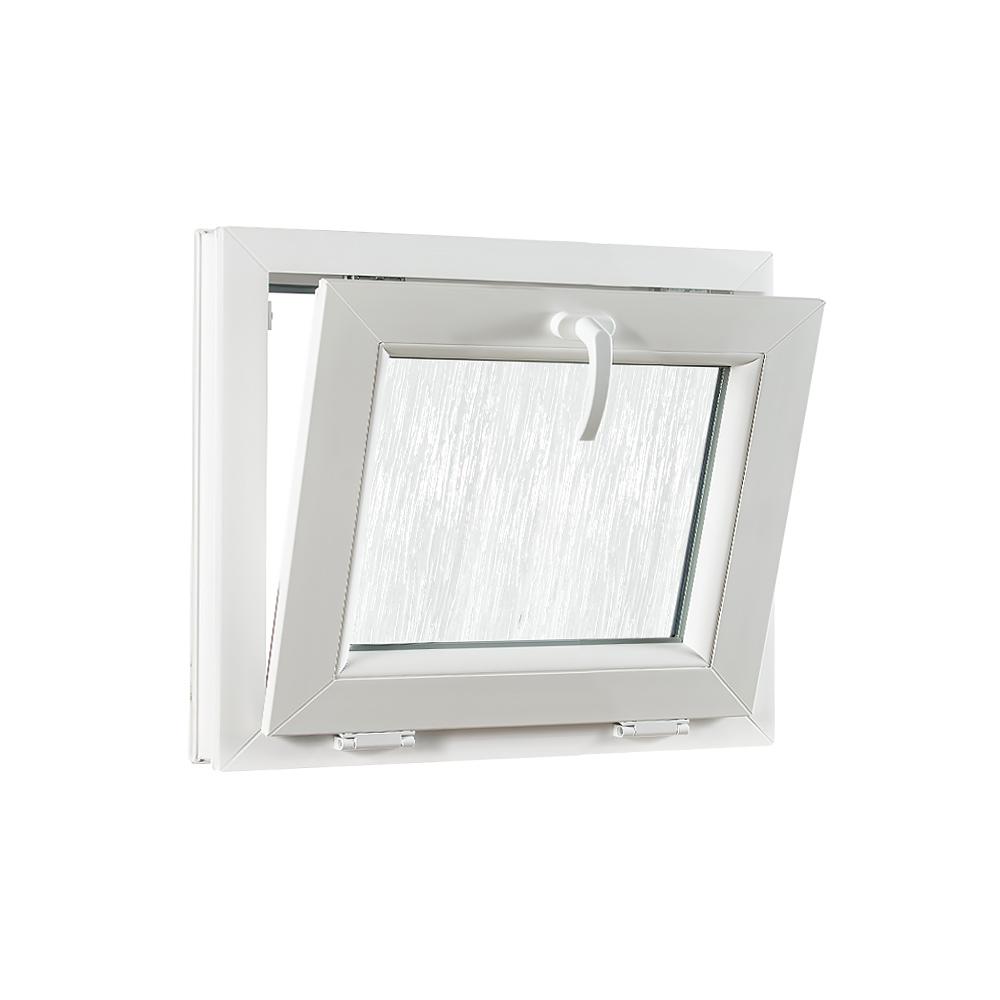 Levně Sklopné plastové okno PREMIUM sklo kůra 490 x 400 mm barva bílá