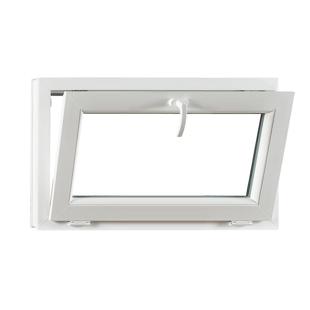 Levně Sklopné plastové okno PREMIUM 900 x 550 mm barva bílá