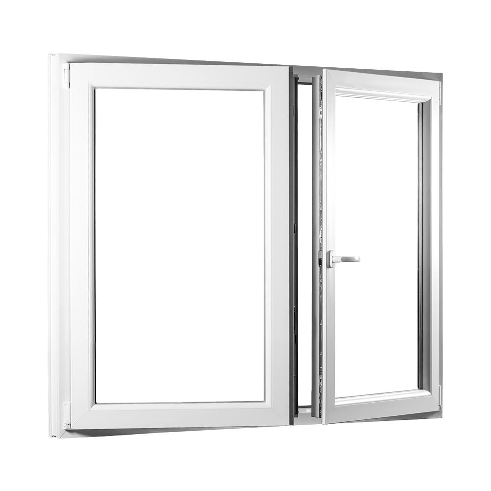 Levně PREMIUM plastové okno 1350x1350 mm (135x135 cm) bílé dvoukřídlé se sloupkem (štulp.)