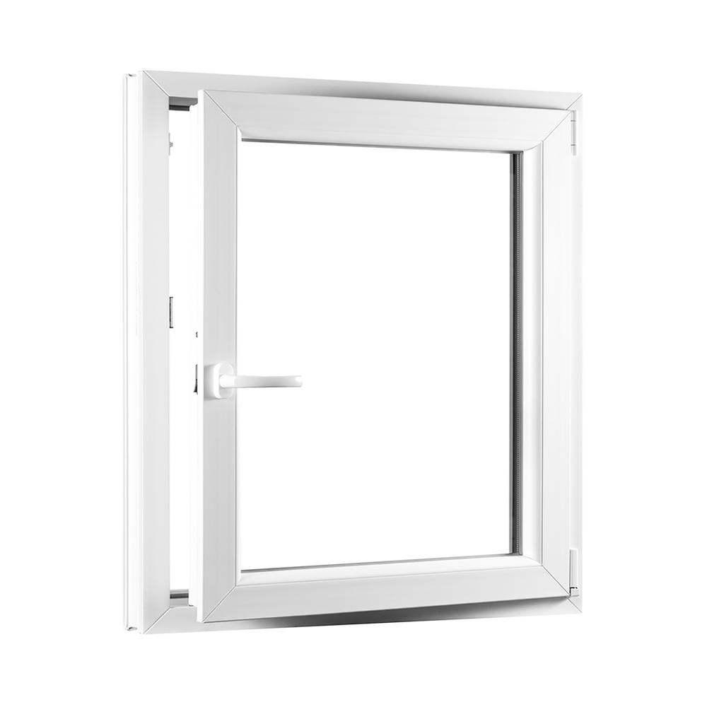 Levně PREMIUM plastové okno 800x1000 mm (80x100 cm) bílé otvíravo-sklopné pravé