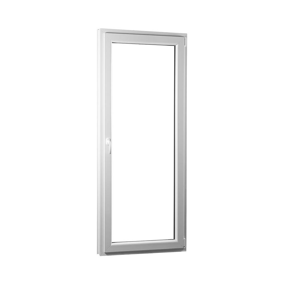 SKLADOVA-OKNA Jednokřídlé plastové balkónové dveře PREMIUM pravé - 800 x 2080 bílé