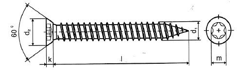 Levně Turbo šroub 7,5 x 92mm